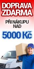 Doprava zdarma u objednávek nad 5000 Kč