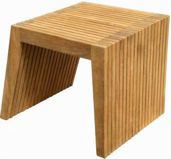 Teakový odkládací stolek WELLS, 47x47 cm Zahradní nábytek s.r.o. DH003932