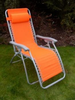 Zahradní a campingové křeslo AN2320, oranžové ROJAPLAST 605/2
