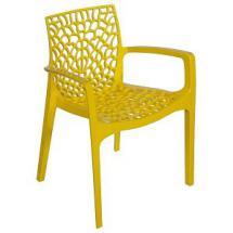 Plastová židle GRUVYER (polypropylen), područky