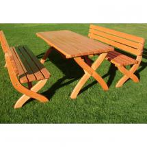 Zahradní stůl STRONG MASIV , borovice, lak, 180x70 cm