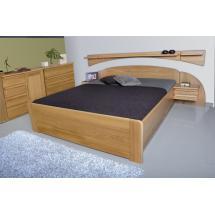 Noční stolek PETRA, dřevo masiv, (závěsný pravý)