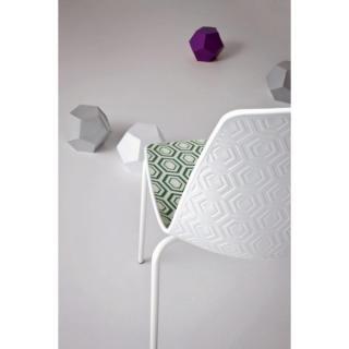 Židle AMFORA NA, plast, bílá kolstrukce, bez područek