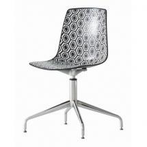 Židle AMFORA L, plast, chromovaný kříž