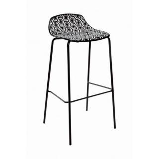 Barová židle AMFORA NAB 67/77, plast,  výška sedu 66cm