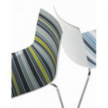 Židle COLORADO NA, plast, chromovaná podnož, bez područek