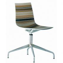 Židle COLORADO L, plast, chromovaná podnož