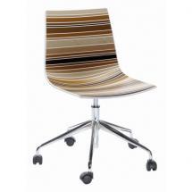 Židle COLORADO 5R, plast, chromovaná podnož