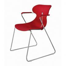 Židle MARGOT S, plast, chromovaná, s područkami
