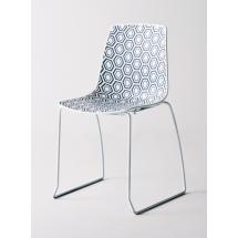 Židle AMFORA S, plast, lakovaná konstrukce bílá