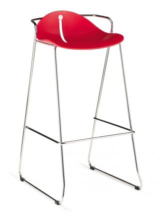 Barová židle MARGOT SB 57, plast, chromovaná