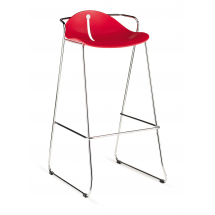 Barová židle MARGOT SB 88, plast, chromovaná