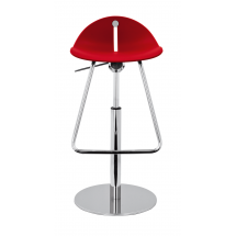 Barová židle MARGOT PB, plast, chromovaná
