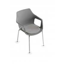 Židle OREA NA, chromovaná, plast