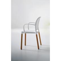 Židle PARANA NA, područky, plast, buk