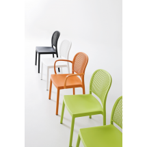 Židle PARANA NA, područky, plast, kovová konstrukce
