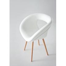 Židle POEMA W-U, čalouněná, buk