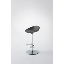 Barová židle POEMA PB-U, plast, kůže, chrom