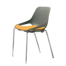 Židle QUIDO NA, plast, chrom