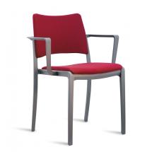 Židle SLASH, područky, čalouněná