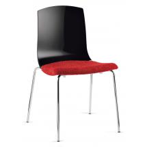 Židle SMILE, čalouněná, plast
