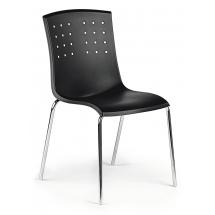 Židle STILE, plast, chrom