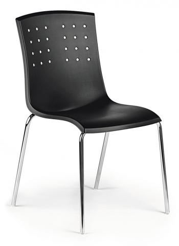 Židle STILE, plast, chrom Alba