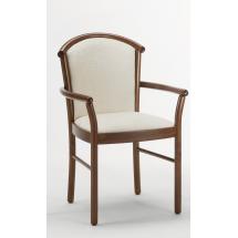 Židle DRACO, područky, čalouněná, buk