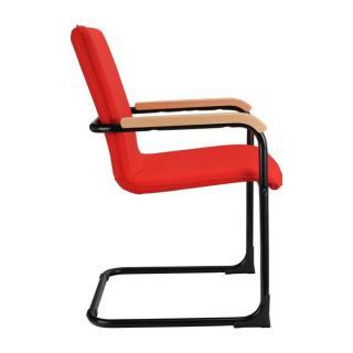 Jednací kancelářská židle SWING (dřevěné područky)