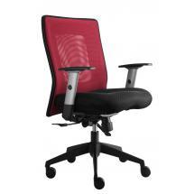 Kancelářská židle LEXA bez podhlavníku, černý sedák (síť. opěrák)