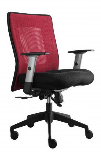 Kancelářská židle LEXA bez podhlavníku, černý sedák (síť. opěrák) Alba 323