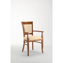 Židle TRUDY F, s područkami, čalouněná, buk