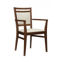 Židle SURI, s područkami, čalouněná, buk