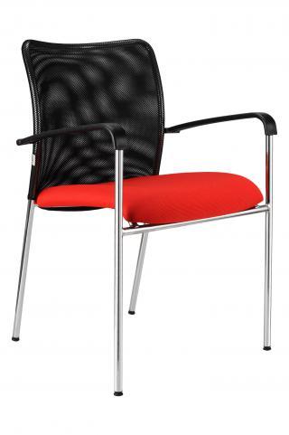 Jednací  židle TRINITY chromovaná konstrukce