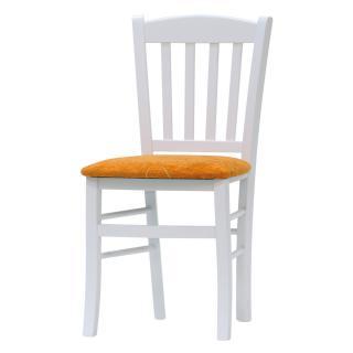 Jídelní a kuchyňská bílá židle VENETA - látka