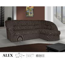 Sedací souprava ALEX II., rohová, rozkládací, úložný prostor