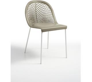 Židle GUAPA S4, bílá konstrukce, kůže