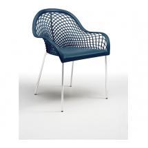 Židle GUAPA P4, chromovaná konstrukce, kůže