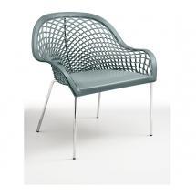 Židle - křeslo GUAPA AT4, chromovaná konstrukce, kůže