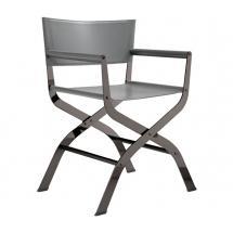 Jídelní židle CIAK, černý nikl, kůže