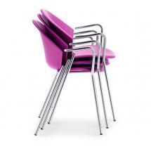 Plastová židle CITY P, chrom, (polypropylen)