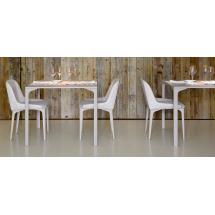 Jídelní židle MARILYN S MT, ocel, kůže