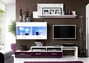 Obývací stěna BALI fialová CASARREDO KRI-ZARA-FIAL