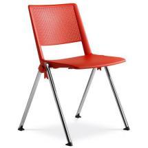 Jednací židle konferenční židle GO! 114-N4, chromovaná  konstrukce, plast