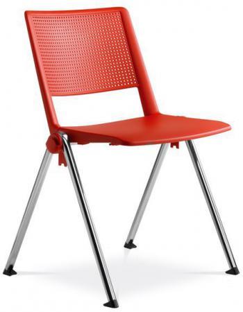 Jednací židle konferenční židle GO! 114-N4, chromovaná konstrukce, plast LD SEATING 114-N4