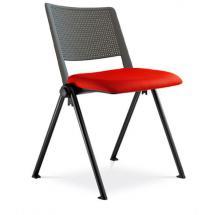 Jednací židle konferenční GO! 115-N1, čalouněný sedák, plastový opěrák