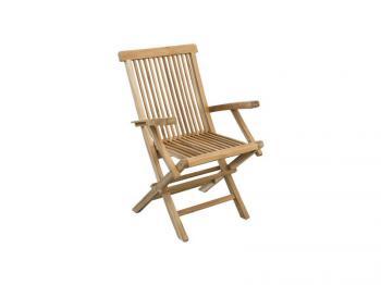 Zahradní teaková židle MILÁN, područky Zahradní nábytek s.r.o. CTM070506-07