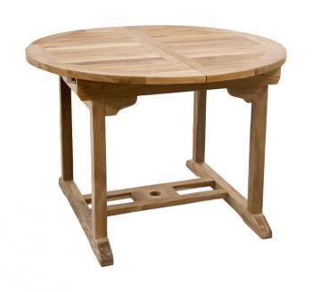 Zahradní teakový stůl MERCY 150, rozkládací, 110/150x110 cm Zahradní nábytek s.r.o. CTM020506-04