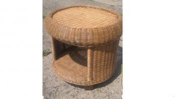 Ratanový stolek CANRI, Ø 62 cm Zahradní nábytek s.r.o. CTM020913-01