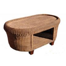 Ratanový stolek CANRI, 116x63cm
